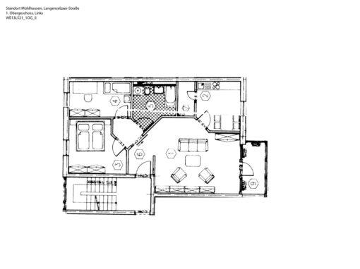 3-Zimmer-Wohnung mit Balkon, frisch renoviert auf Wunsch fix und fertig mit Einbauküche WE13LS21